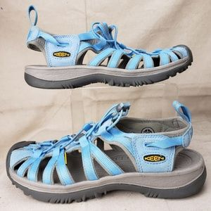 Keen Whisper Sandals Blue Women's Size 9